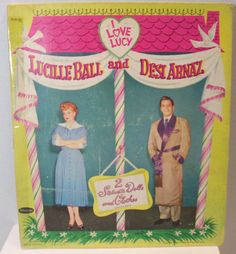rare Lucille ball and Desi Arnaz I Love Lucy paper dolls copyright 1953 Whitman no 2101:25