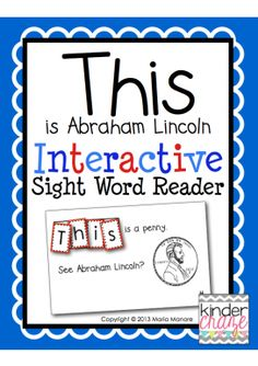 FREEBIE! Abraham Lincoln Sight Word Reader