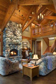 Washington State Timber Home - Timber Home Living