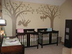 Cute idea for boy/girl twins nursery