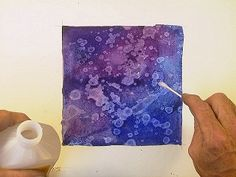 Rubbing alcohol on watercolor - linked to steps!