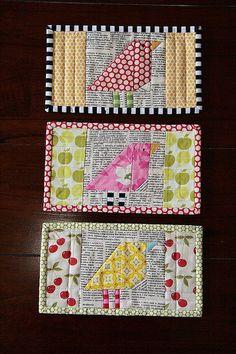 cute bird placemats or mug rugs