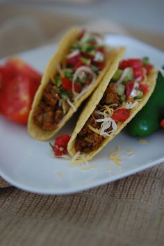 """""""Meatless tacos made w/ lentils"""" - Seriously, I was just thinking how perfect it would be if I could find a meatless taco that still pretty much tasted like a regular taco.  I don't much care for meat."""