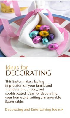 Great ideas for Easter decorations from Lindt Chocolate!