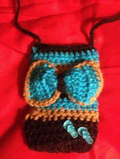 Cartera en crochet para celular