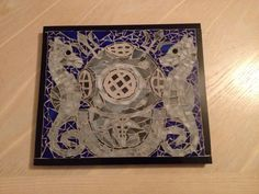 Navy Diver Med Tech mosaic by FabulousMosaics on Etsy, $100.00