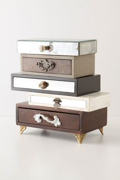 Anthropologie jewelry box ; but this would be really simple to make