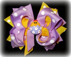 Easter Chick Egg Hair Bow Boutique Layered by MyBellaBellaBowtique, $6.95