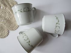 Vintage Sheffield Elegance Floral Teacups Set of by thechinagirl, $12.50