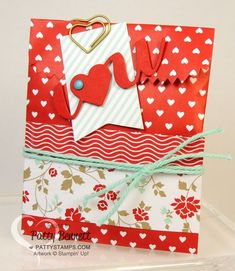 Stampin' Up! Valentine Sweetheart Treat Bag by Patty B