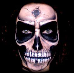 www.LetzMakeup.com: Scary/Creepy Skull Makeup Tutorial; Halloween '12