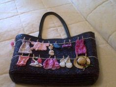 Super cute clothes line purse (uses Barbie clothes)