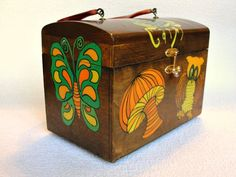 1960's Enid Collins Style  Vintage Wooden Box Purse by slayhearts, $69.00