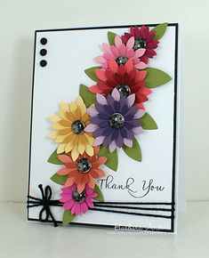 Pretty Thank You Floral Card...