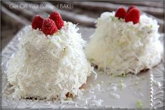 I am obsessed with angel food cake. These little guys are flavored with coconut and lime.