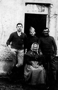 Photo prise à la fin de la première guerre mondiale