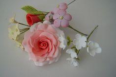 bouquet sugar flower, bouquet, clay flowers, gumpast flower, polym clay, polymer clay