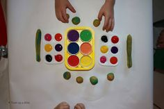 Painting with Playdough