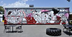 A series of parking lots, loading docks, and rundown factory buildings were transformed in 2009 into the dazzling Wynwood Walls art project in #Miami