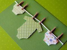 Going Green handmade baby card