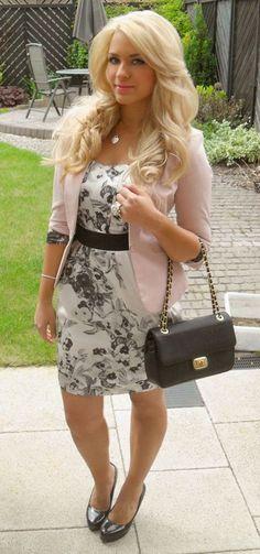 dress with blazer