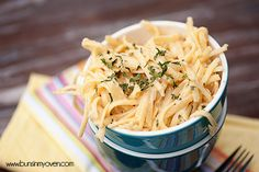 Creamy Garlic Pasta #recipe by bunsinmyoven.com | Perfect comfort food for a quick weeknight dinner