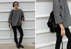 HiP Paris Blog, Aisling Greally - love the oversized look w/ the straight, slim pants