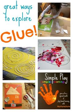 Great kids art ideas using glue | NurtureStore :: inspiration for kids