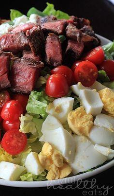 "', ""Steak Salad Certified angus beef® center cut top sirloin grilled..."