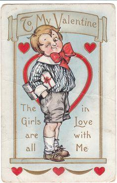 Vintage Postcard Valentine Whitney Ladies Man Boy Unused Valentine's Day Holiday | eBay