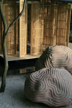 conceptual rocks from Chelsea Crocus garden