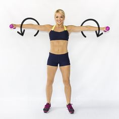 Weighted Arm Circles--these look simple, but do these for a minute and they will BURN.