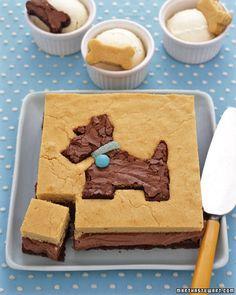 Chocolate and Vanilla Dog Cake