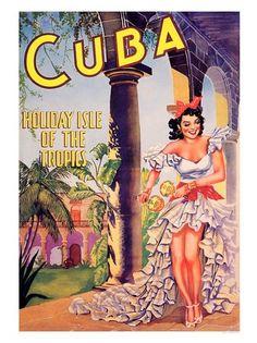 cuba-holiday-isle-of-tropics by nostalgicphotosandprints,