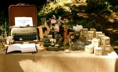 Lovely set up for a garden wedding