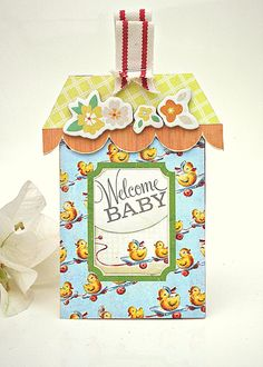 This baby shower gift tag is adorable!