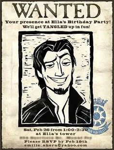 Wanted poster invites