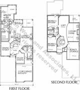Patio Home Plan aD6163 Jf  Two story patio home