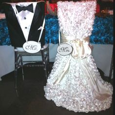 Chair Covers For Bride & Groom