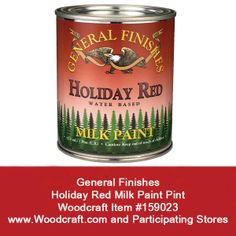 Check out all the Milk Paint Colors from General Finishes like the Holiday Red at your local Woodcraft store and online.