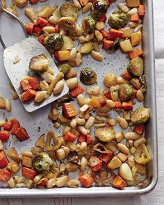 Roasted Winter Vegetables with Cannellini Beans | Whole Living