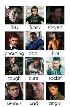 dean's beautiful faces
