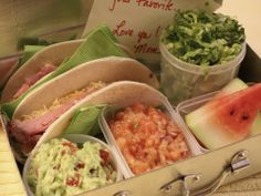 Take-to-School Taco Bar - If your kids love taco night, surprise them with a do-it-yourself taco bar that fits neatly into a lunch box.
