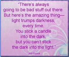 You CANT stick the dark into the light!!