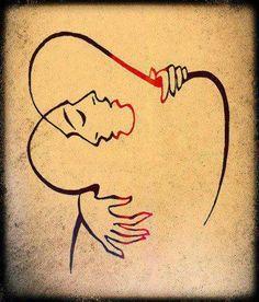 tattoo idea, line drawings, artists, circles, the kiss, tattoos, inspir, the artist, kisses