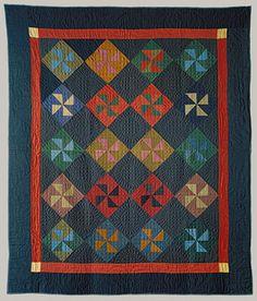 Pinwheel quilt, 1930, Indiana