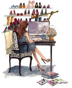 Blogging in heels