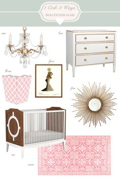 {1 Crib, 3 Ways} Hollywood Glam Nursery #laylagrayce #nursery