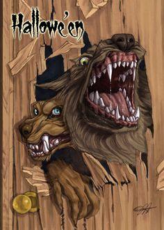 Werewolves Base Card Art - Jessica Hickman by Pernastudios on deviantART