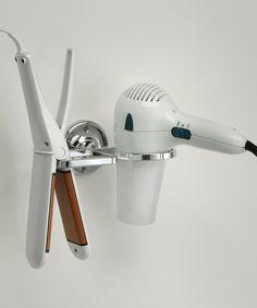 Hair dryer + flattener holder